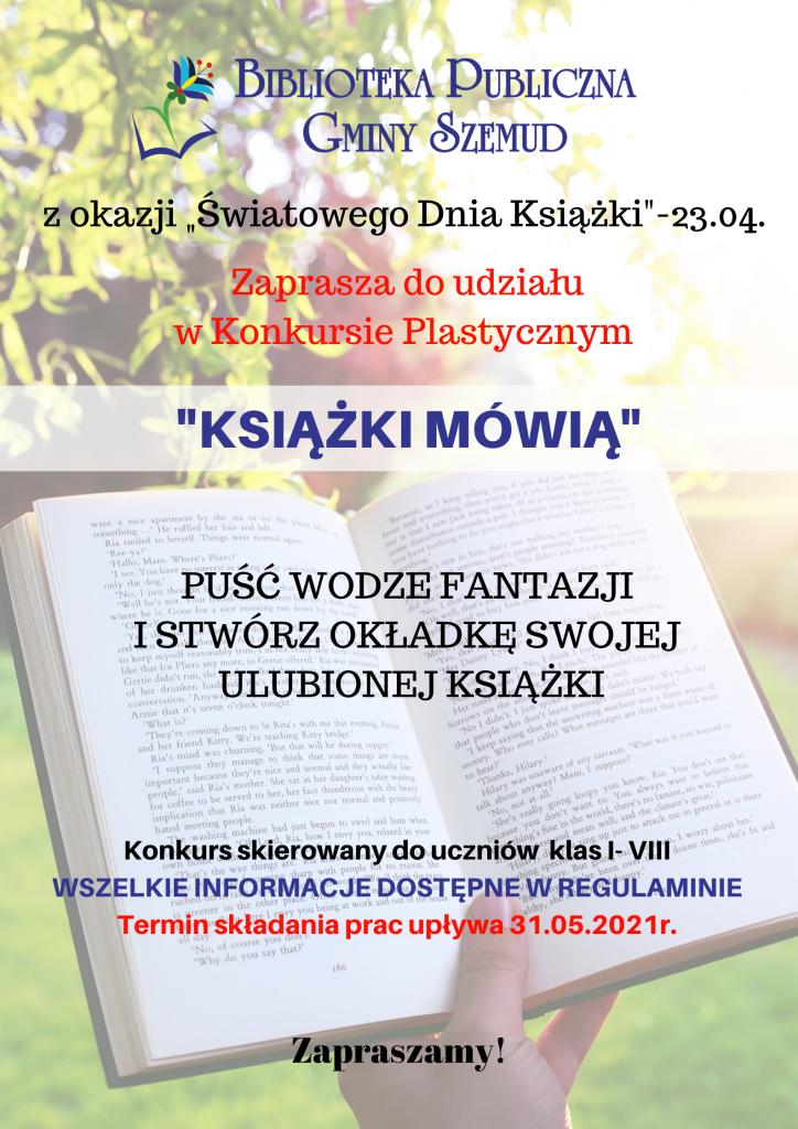 Konkurs plastyczny pt. ''Książki mówią''
